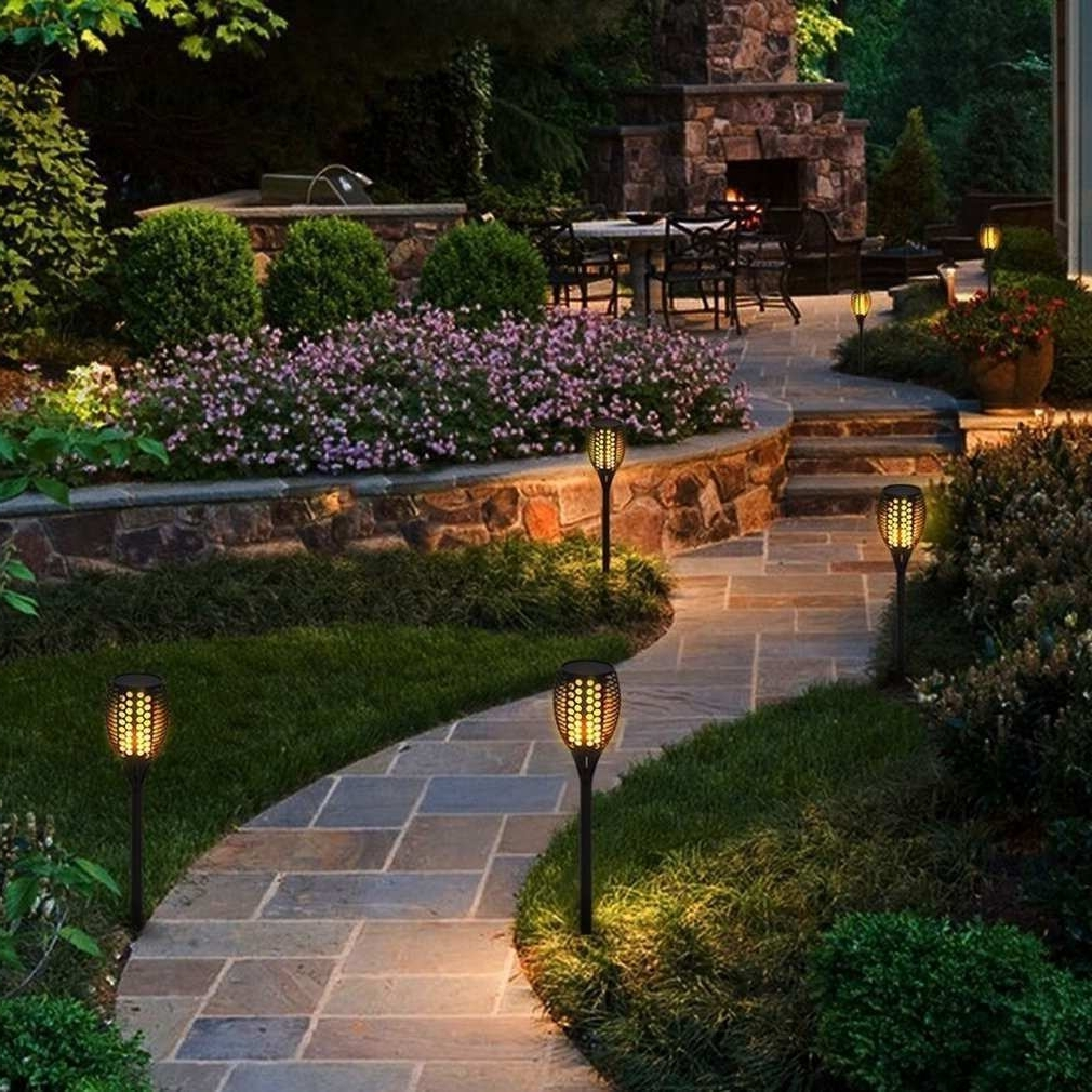 Most Up To Date Flickering Outdoor Lights Elegant 96 Led Solar Flickering Flame Regarding Outdoor Ground Lanterns (View 9 of 20)