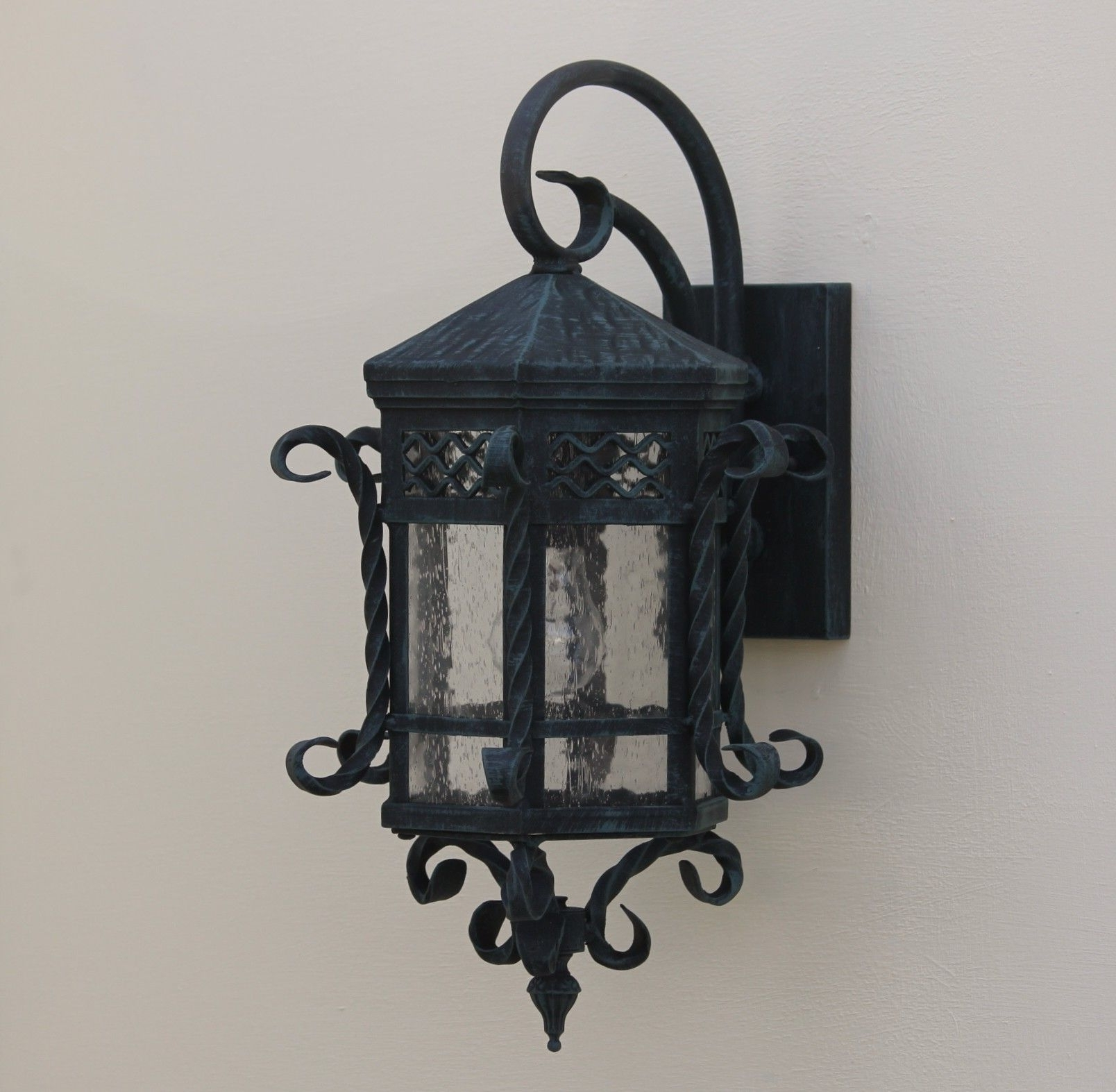 Most Up To Date Gold Coast Outdoor Lanterns Within Spanish Outdoor Hand Forged Wrought Iron/ Outdoor Lighting (View 15 of 20)