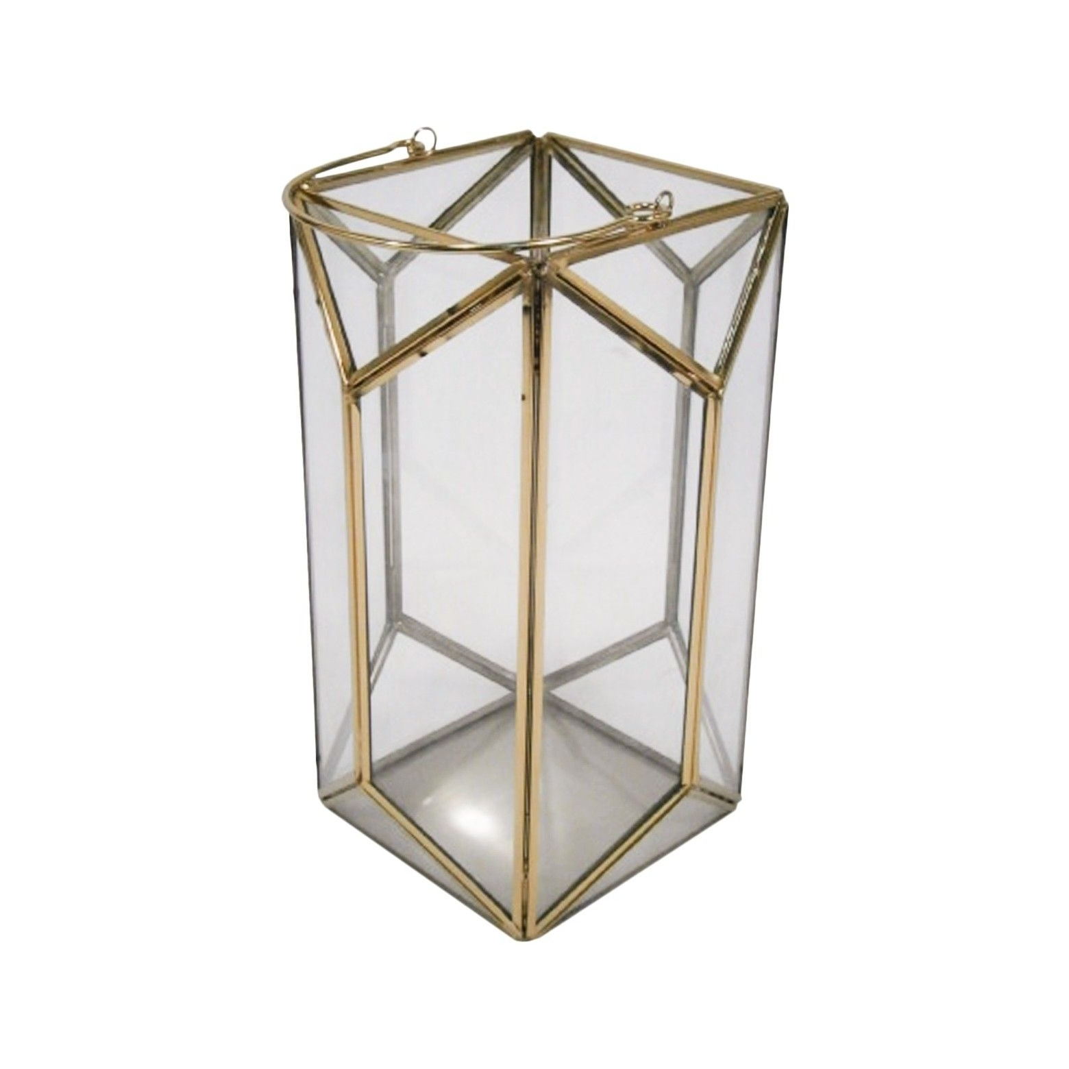 Most Up To Date Gold Outdoor Lanterns For 11 Outdoor Lantern Stainless Steel & Glass – Plated Gold – Threshold (View 14 of 20)