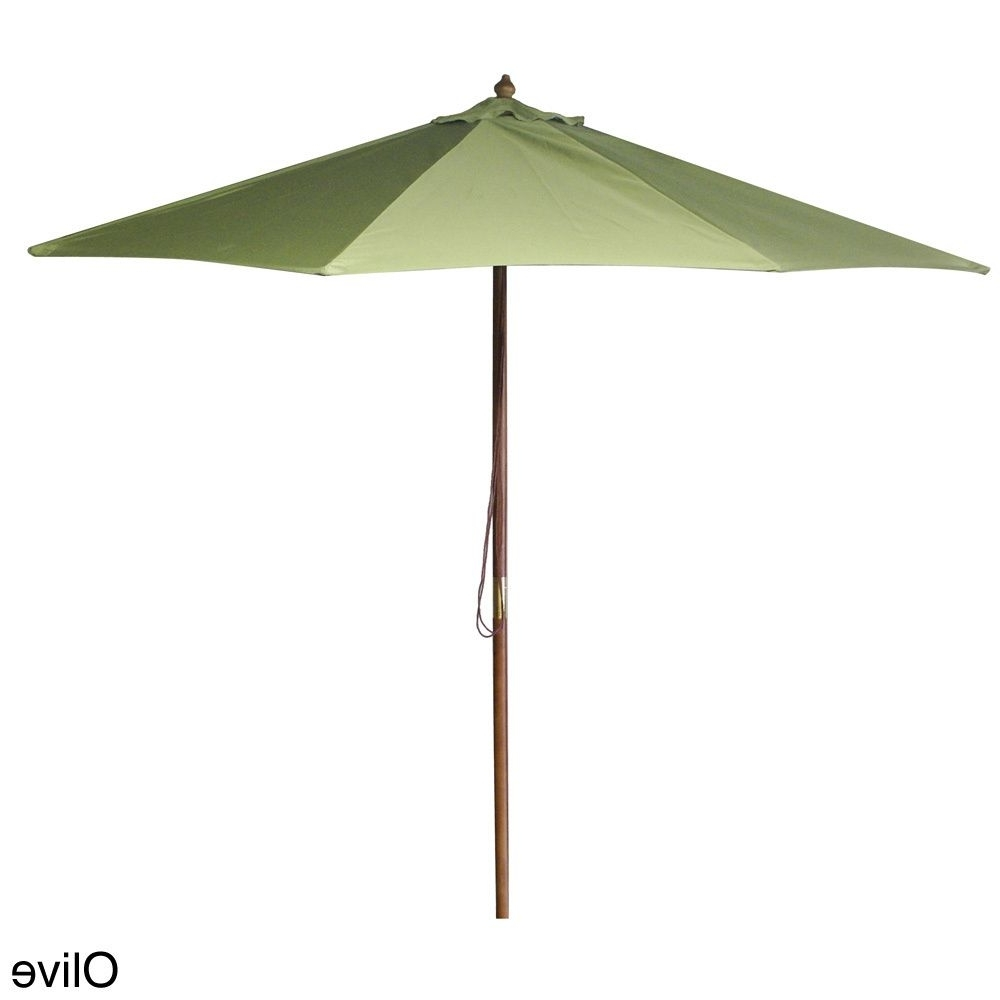 Most Up To Date Jordan Patio Umbrellas Regarding Jordan Manufacturing 9 Foot Wooden Market Umbrella (black) #ump (View 8 of 20)