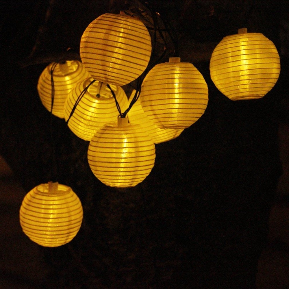 Most Up To Date Outdoor Ball Lanterns Intended For Solar String Lights Outdoor  (View 7 of 20)