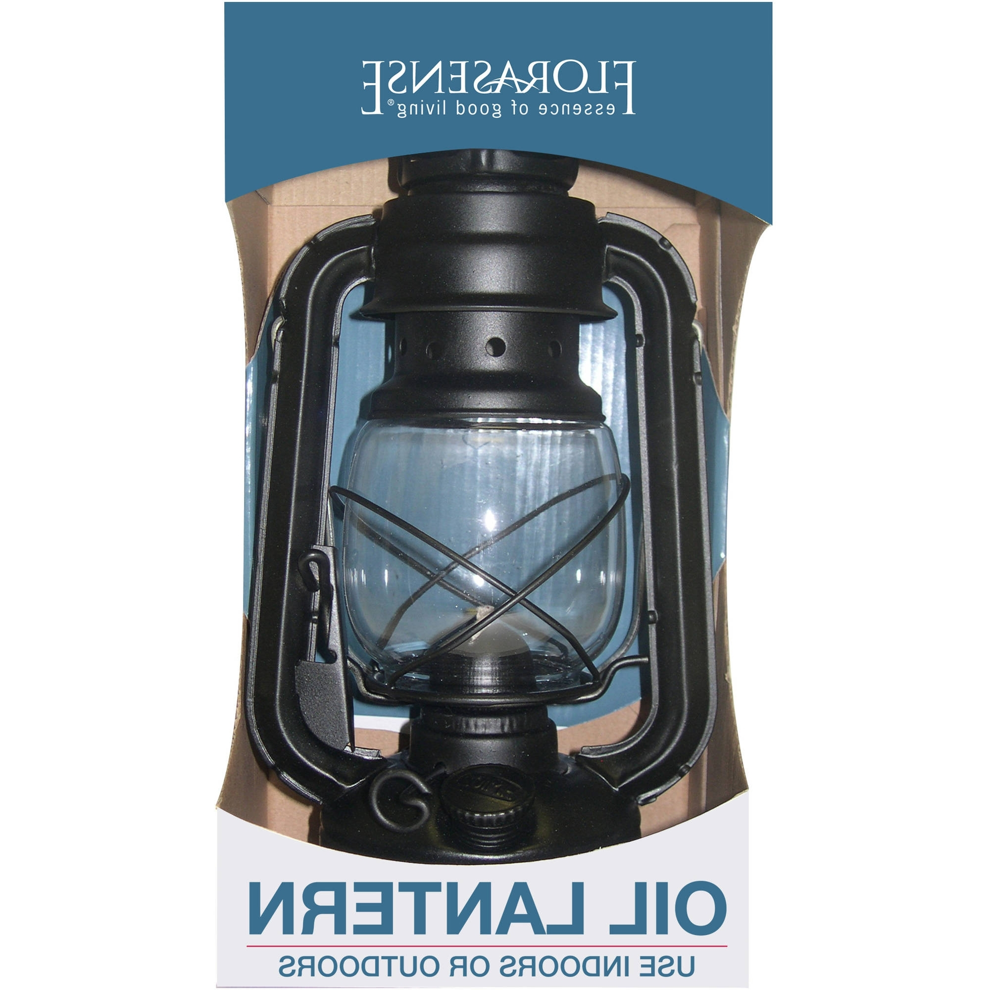 Most Up To Date Outdoor Storm Lanterns Inside Florasense Hurricane Oil Lantern, Black – Walmart (View 10 of 20)