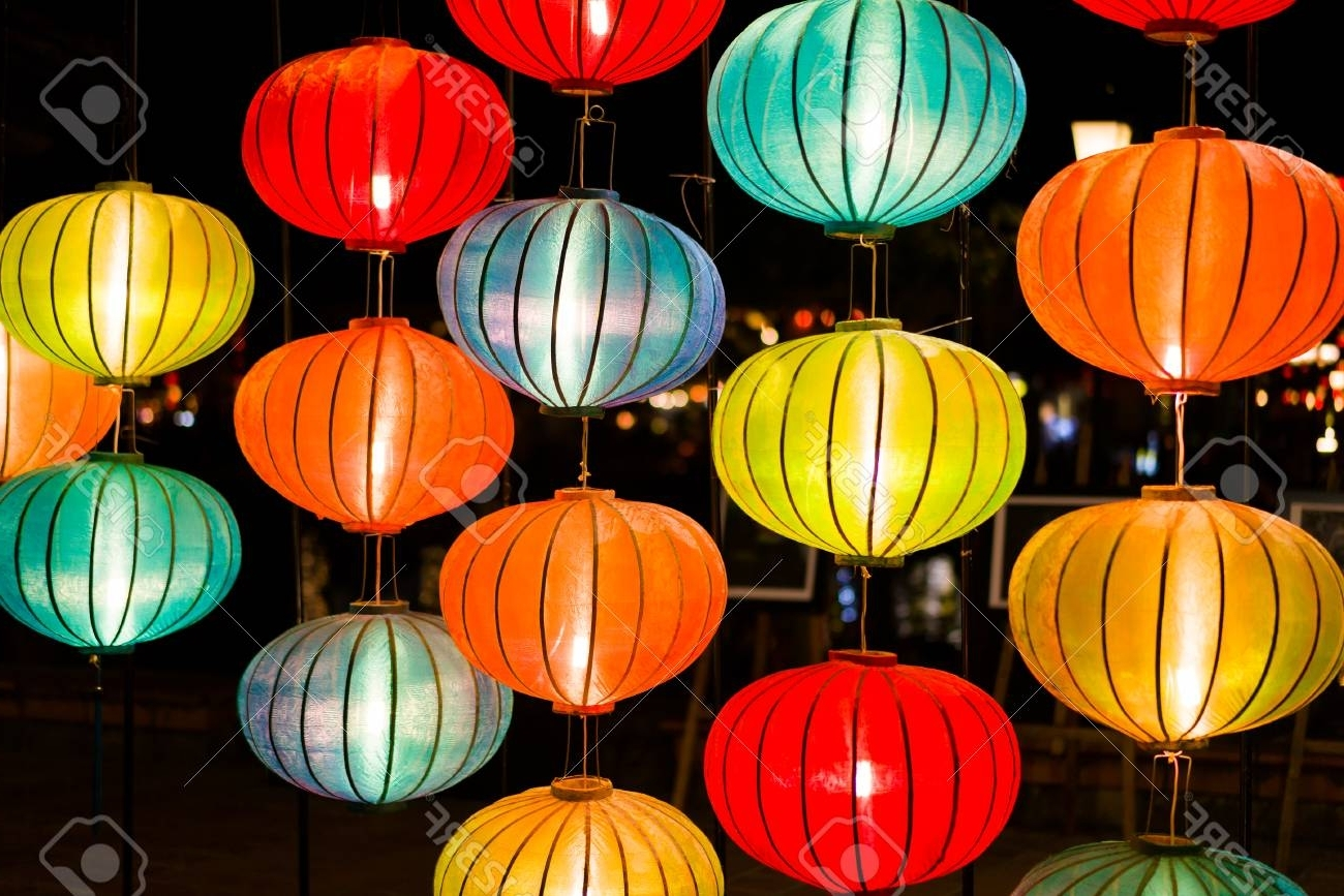 Most Up To Date Outdoor Vietnamese Lanterns With Regard To Colorful Lanterns At The Market Street Of Hoi An Ancient Town (View 10 of 20)
