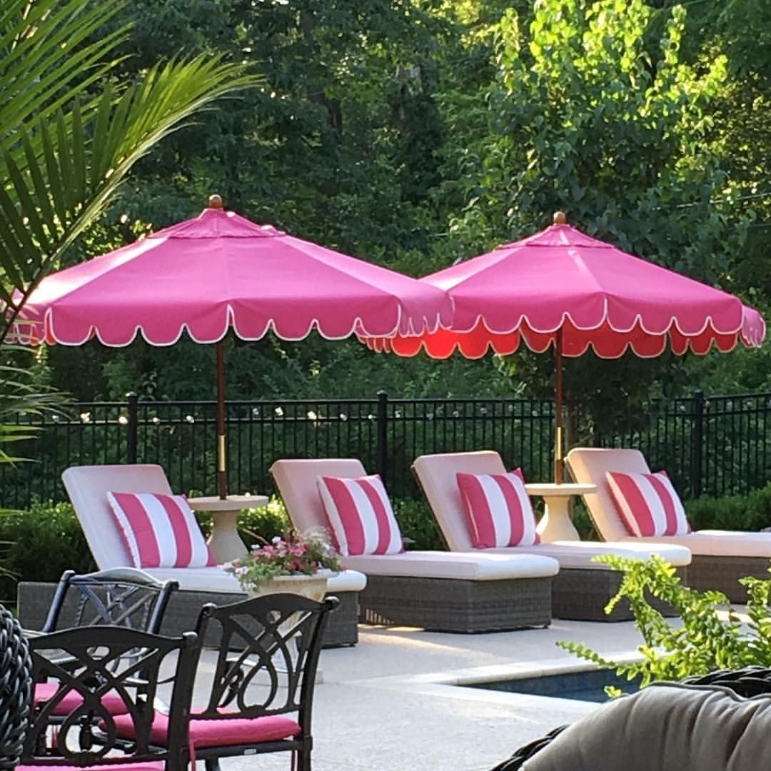 Most Up To Date Pink Patio Umbrellas With Regard To 273 Likes, 14 Comments – Julie Mooney (@julielmooney) On Instagram (View 12 of 20)