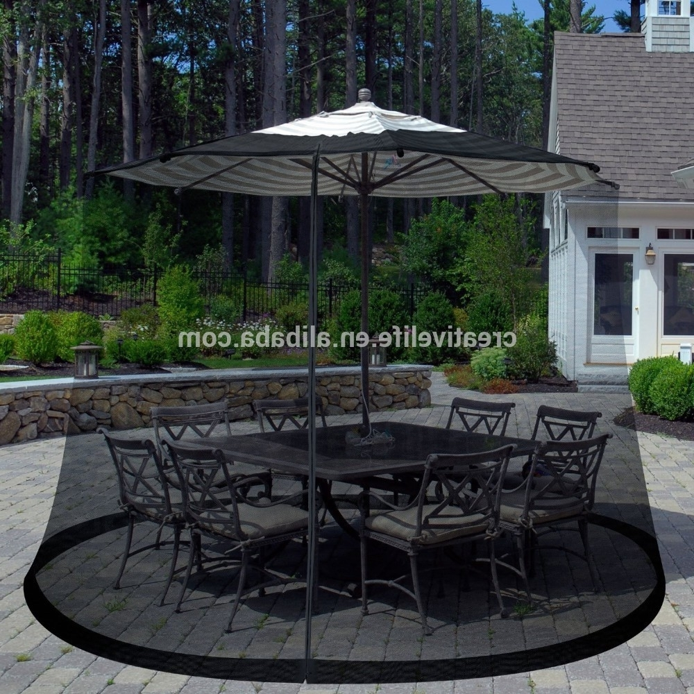 Most Up To Date Umbrella Mosquito Net Canopy Patio Set Screen House Umbrella Table Inside Patio Umbrellas With Netting (View 8 of 20)