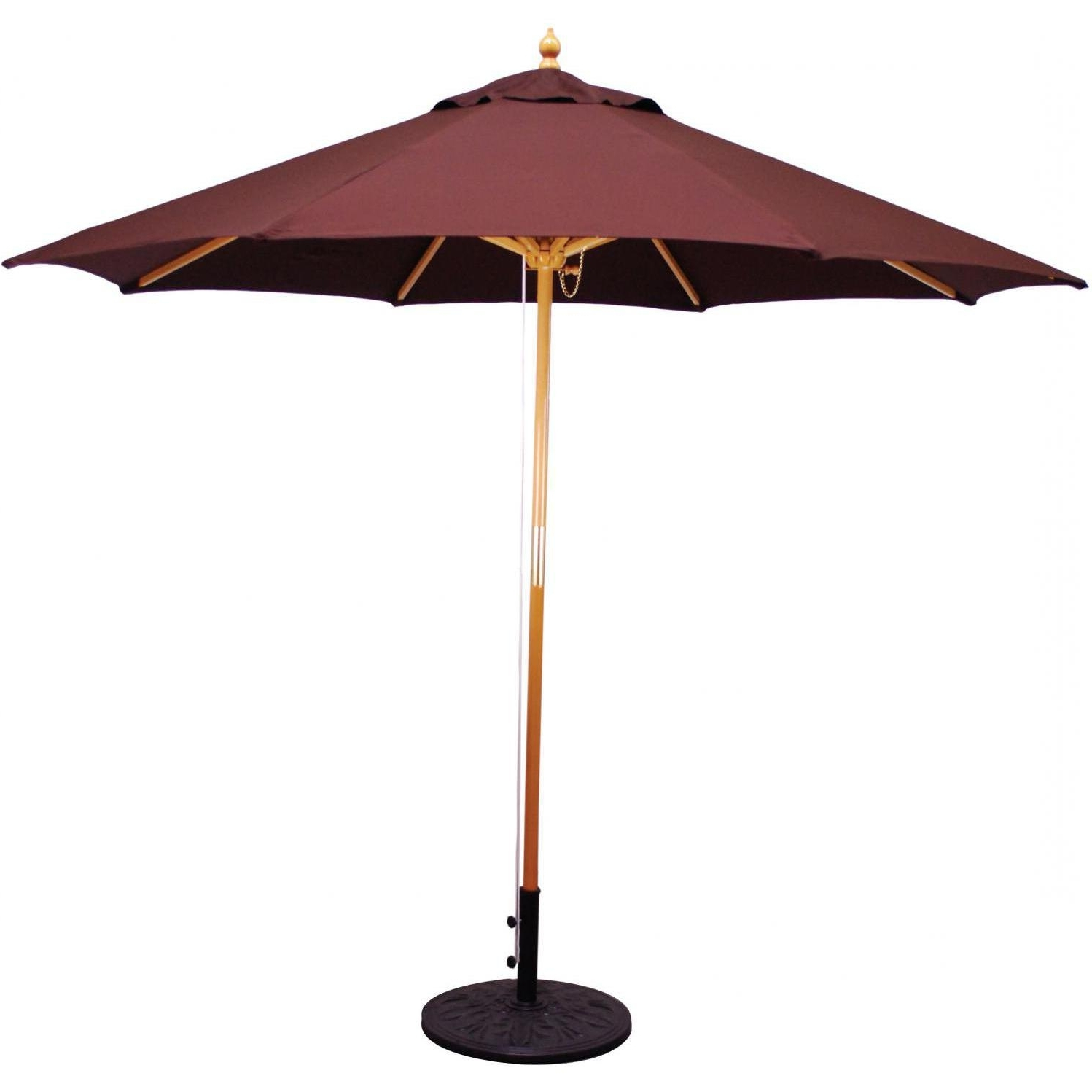 Most Up To Date Wooden Patio Umbrellas Inside Galtech 9 Ft Wood Patio Fascinating Wooden Patio Umbrellas – Home (View 7 of 20)