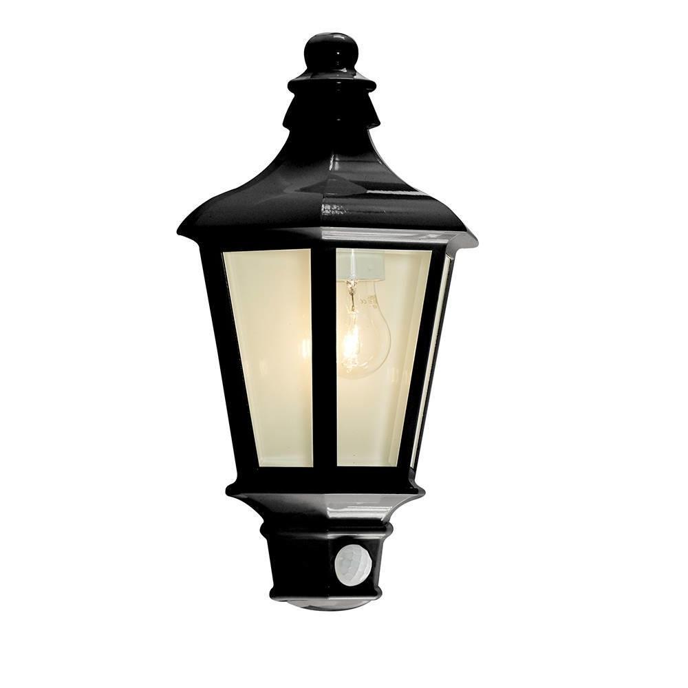 Newest 1 Light Outdoor Wall Half Lantern Garden Pir Motion Sensor Within Outdoor Lanterns With Pir (View 10 of 20)