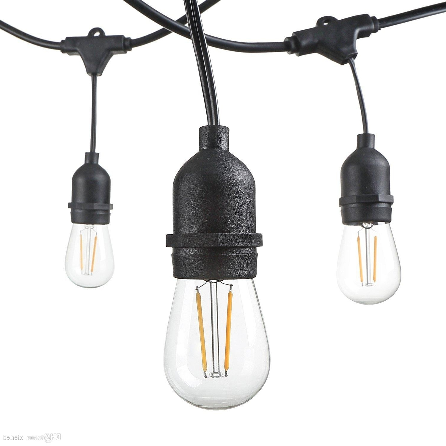 Newest 48 Foot Weatherproof Outdoor String Lights S14 Led Filament Bulbs Intended For Waterproof Outdoor Lanterns (View 7 of 20)