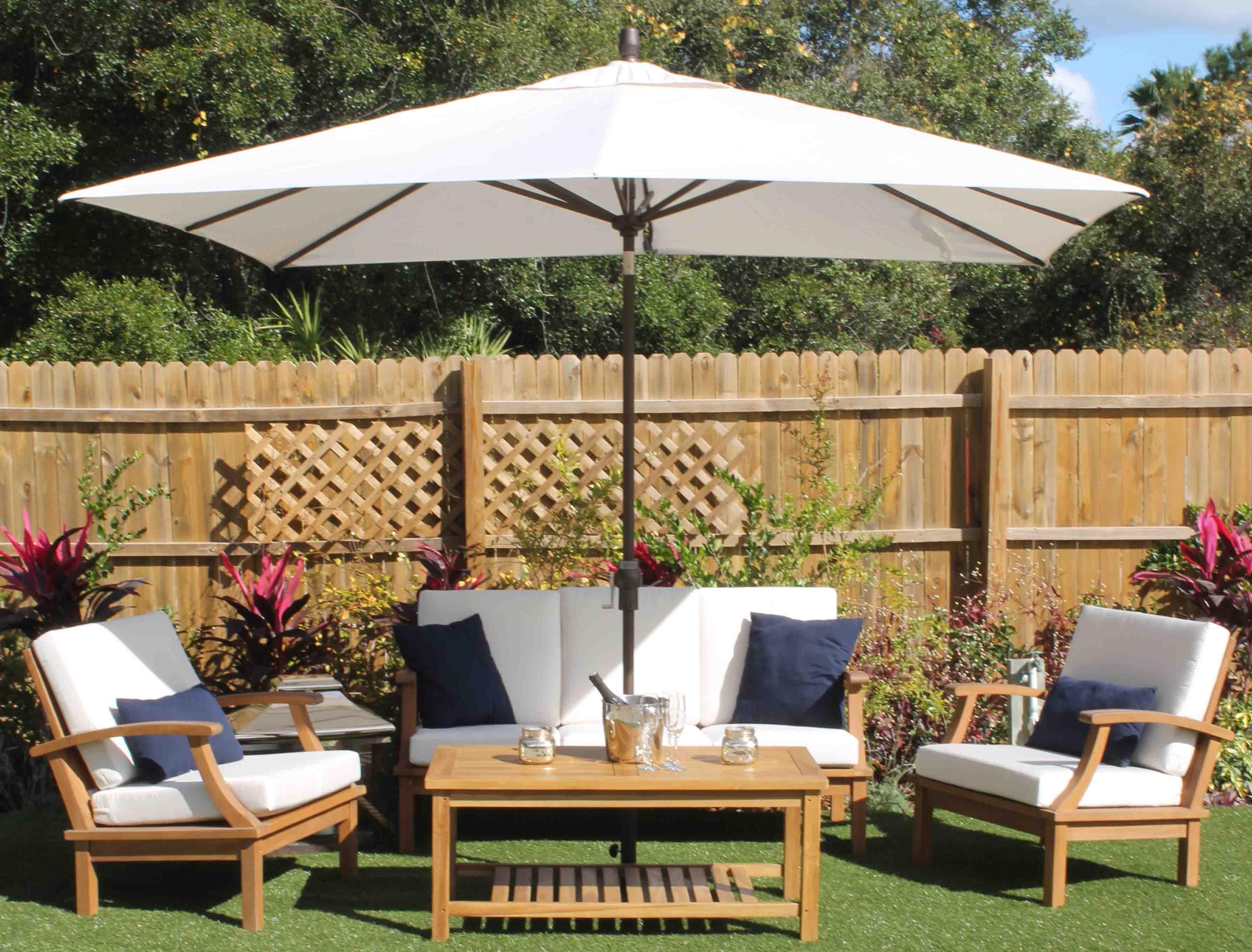 Newest 48 Rectangular Sunbrella Patio Umbrellas, 6#039; X 10#039; Sunbrella Pertaining To Sunbrella Outdoor Patio Umbrellas (View 17 of 20)
