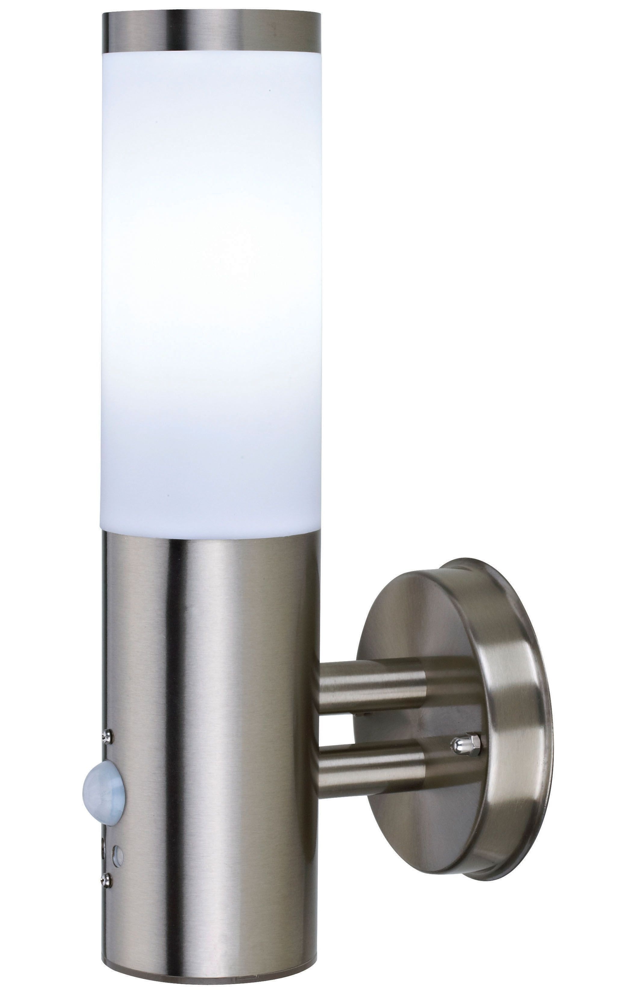 Newest Blooma Nomos Stainless Steel 6W Mains Powered External Pir Wall Throughout Outdoor Pir Lanterns (View 11 of 20)