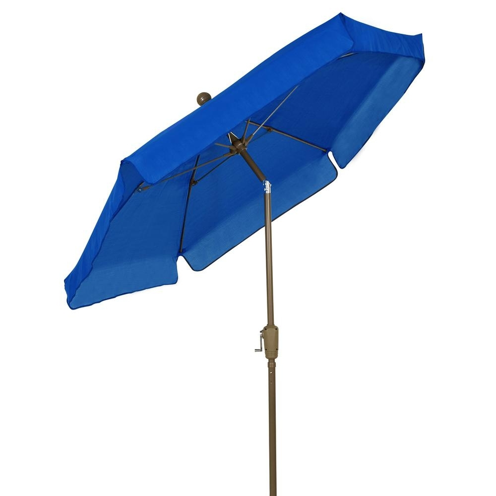 Newest Blue Patio Umbrellas Throughout Fiberbuilt Umbrellas 7.5 Ft. Patio Umbrella In Pacific Blue 7Gcrcb T (Gallery 13 of 20)
