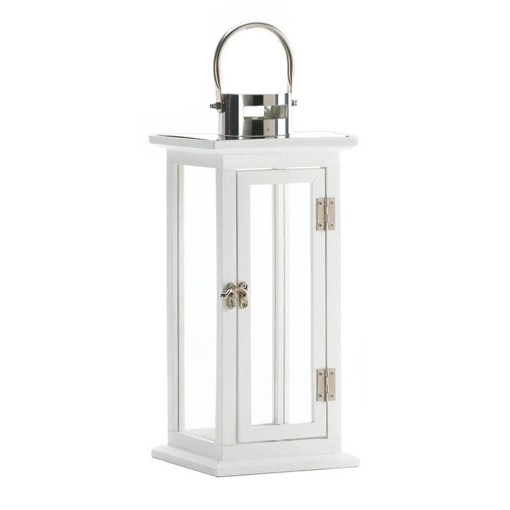 Newest Candle White Lantern, Antique Decorative Iron Highland Candle For Outdoor Lanterns Decors (Gallery 18 of 20)
