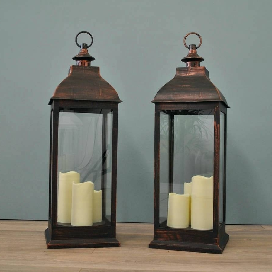 Newest Candles ~ Outdoor Lantern Candle Holders Full Image For Big 3 Wick With Regard To Outdoor Big Lanterns (View 12 of 20)