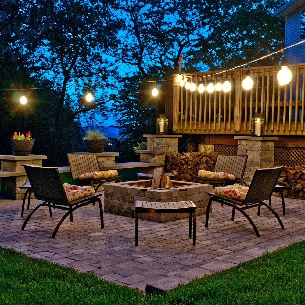 Newest Decoration Cafe Outdoor String Lights Outdoor Solar Bistro Lights Within Outdoor Lawn Lanterns (View 10 of 20)