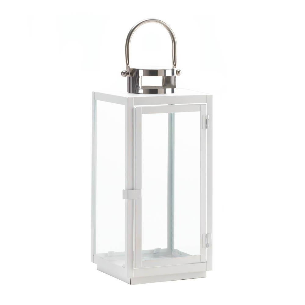 Newest Decorative Candle Lanterns, White Hanging Outdoor Large Decorative Within Outdoor Lanterns Decors (View 5 of 20)