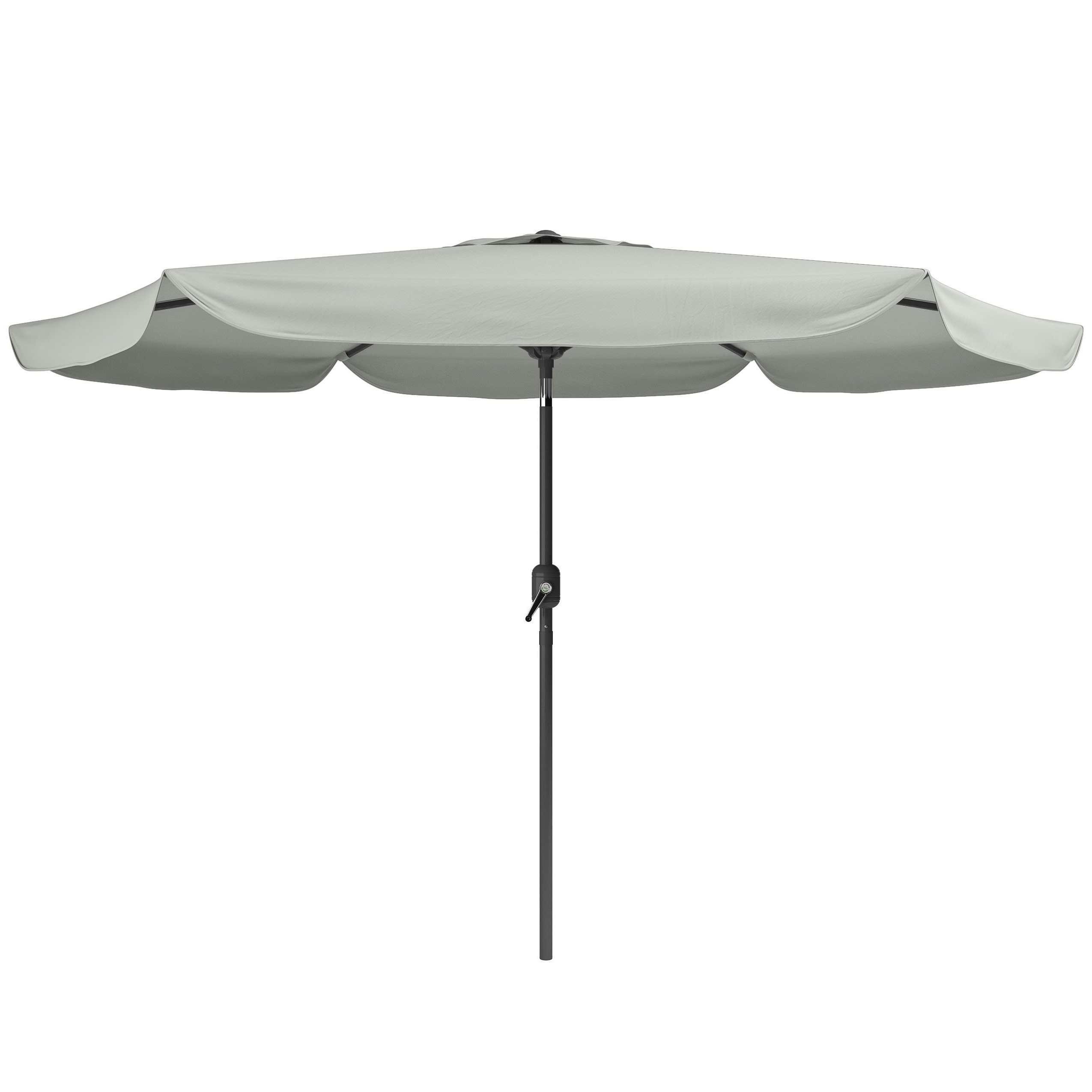 Newest Grey Patio Umbrellas For Corliving Tilting Patio Umbrella (Sand Grey), Size (View 15 of 20)