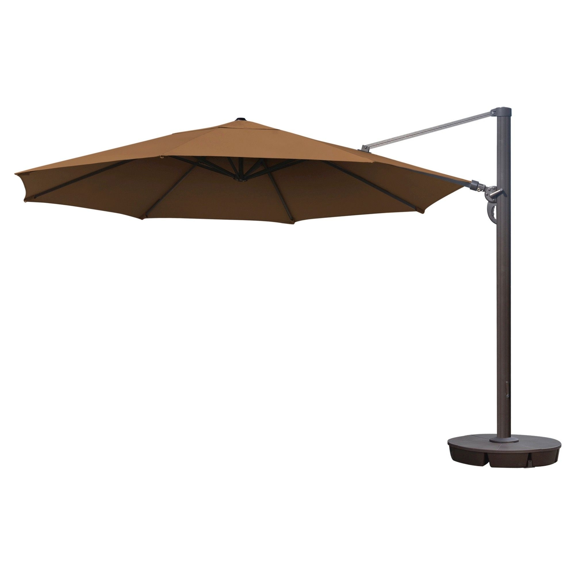 Newest Grey Patio Umbrellas Within Island Umbrella Victoria 13' Octagonal Cantilever In Stone (Grey (View 15 of 20)