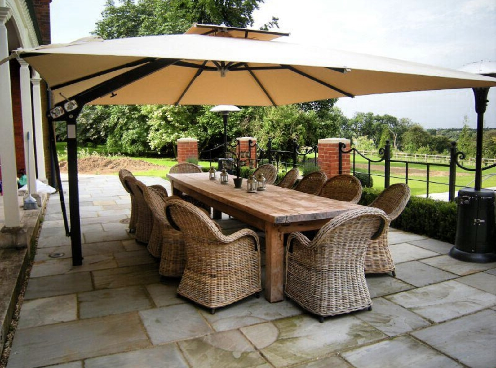 Newest High End Patio Umbrellas Intended For Customer Round Up: 10 High End Patio Umbrella Set Ups That Will (View 8 of 20)