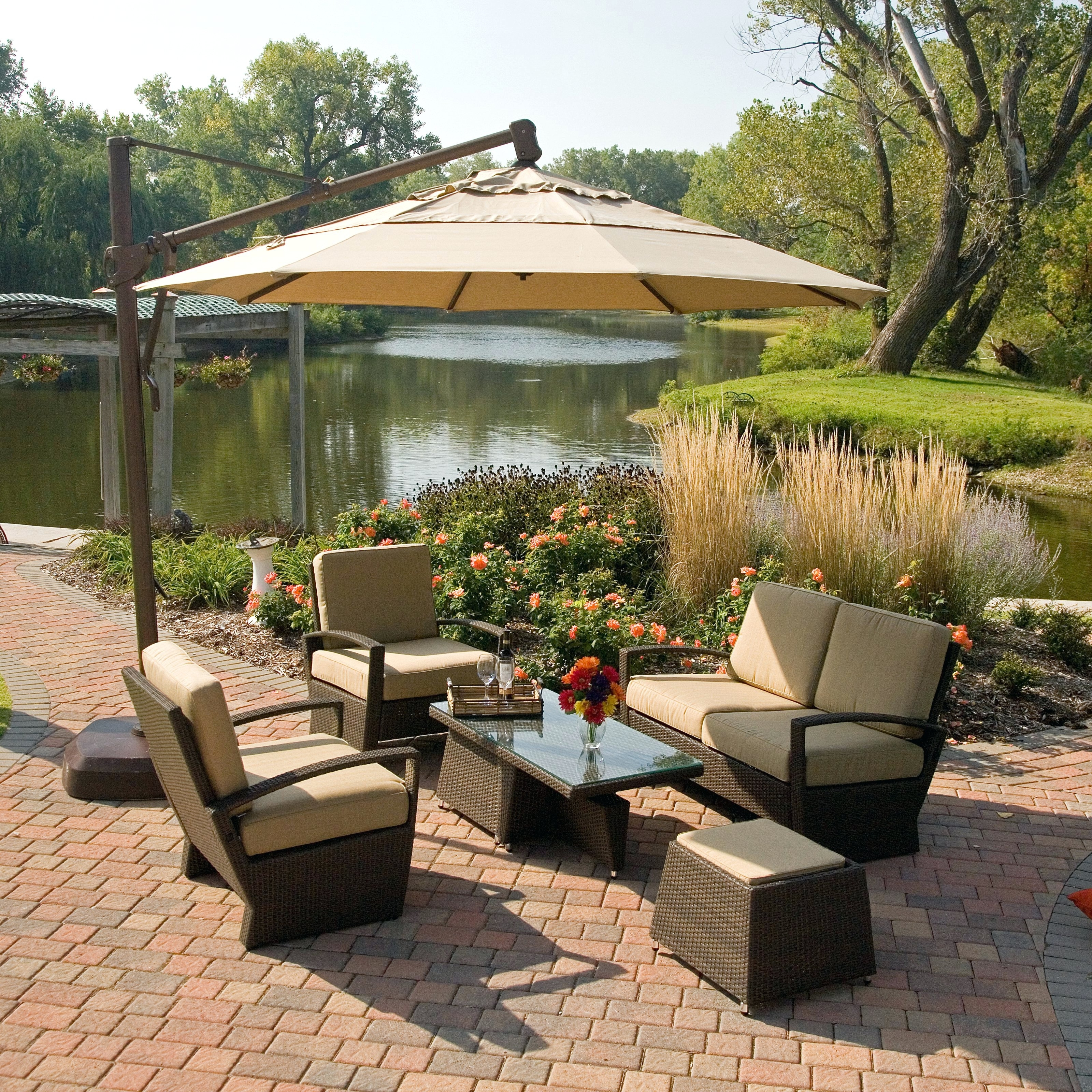 Newest Jumbo Patio Umbrellas Within Tips: Breathtaking Frontgate Umbrellas For Your Outdoor Space (View 15 of 20)