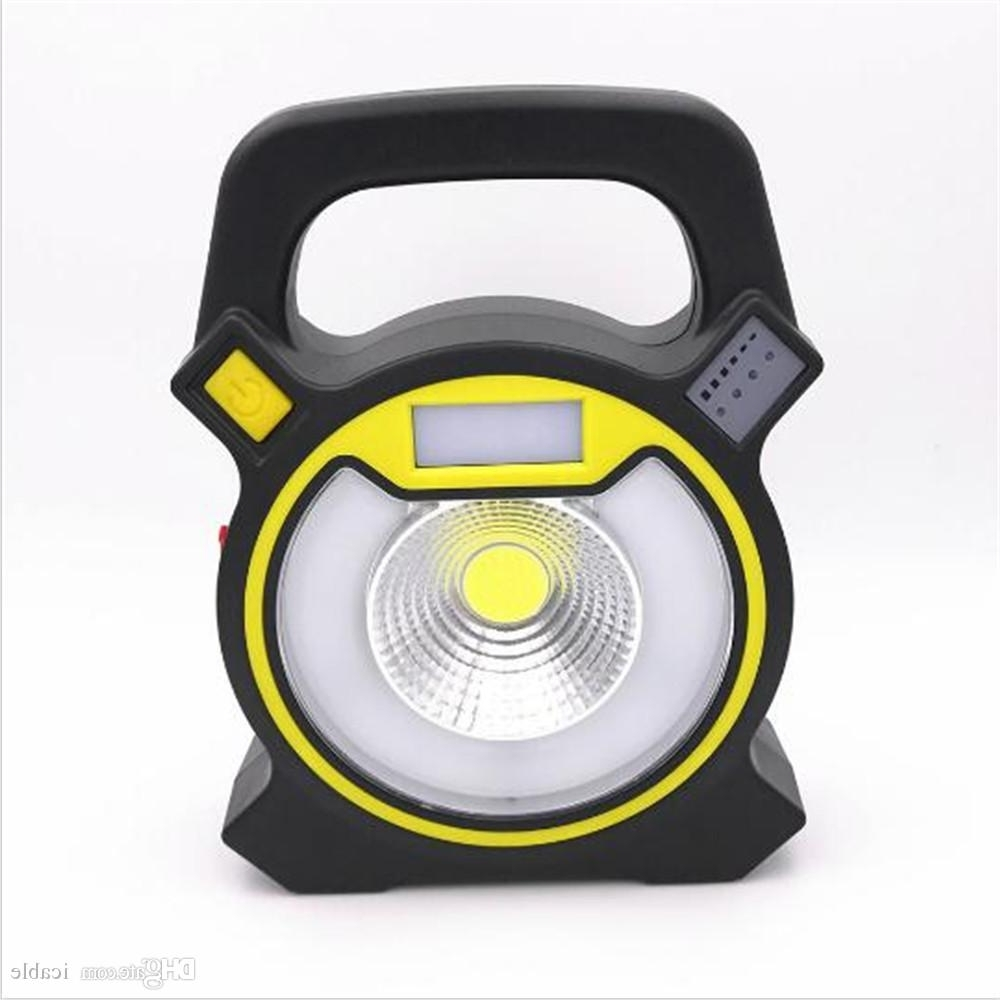 Newest Multifunction Usb Rechargeable 10W Cob Work Lights Round Led Pertaining To Most Recently Released Outdoor Round Lanterns (View 6 of 20)