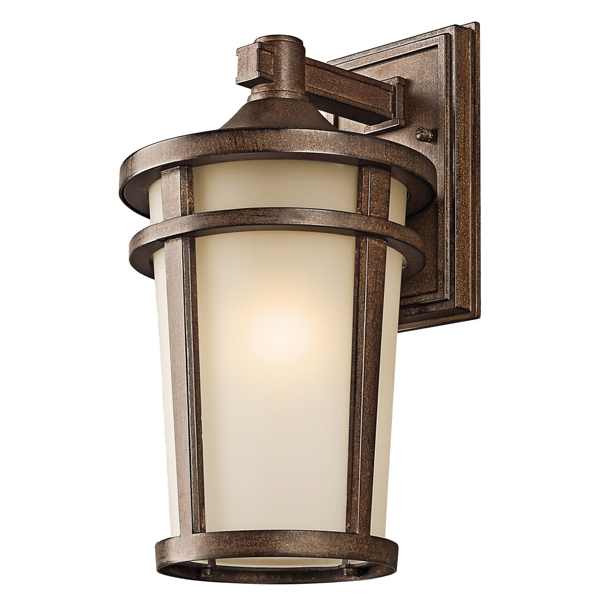 Newest Outdoor Mounted Lanterns Inside Kichler 49072Bst Atwood Outdoor Wall Mount Lantern (View 7 of 20)