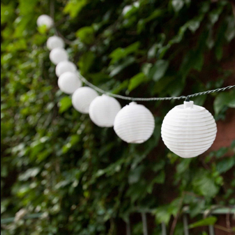 Newest Set Of 10 White Indoor/outdoor Mini Oriental Style Nylon Lantern In Outdoor Nylon Lanterns (View 13 of 20)