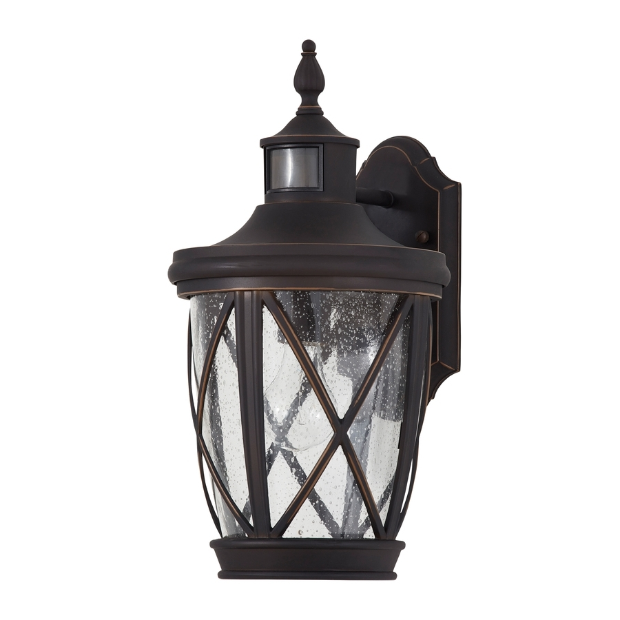 Newest Shop Outdoor Wall Lights At Lowes Pertaining To Outdoor Iron Lanterns (View 14 of 20)