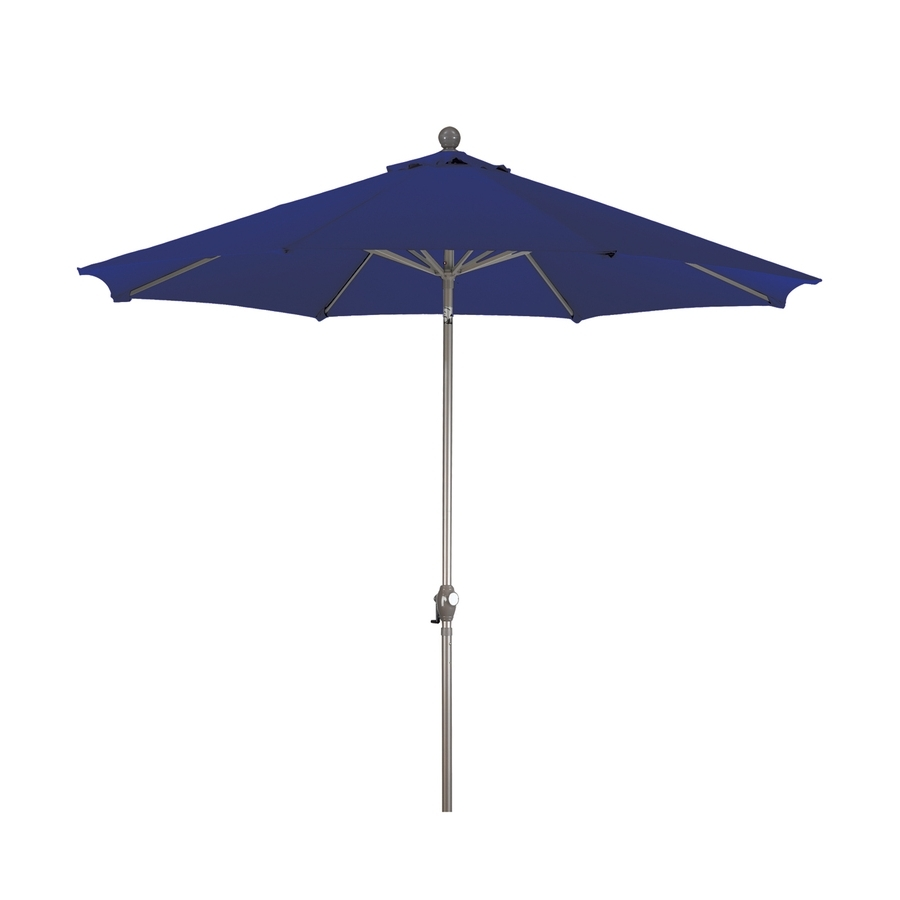 Newest Shop Phat Tommy Navy Blue Market 9 Ft Patio Umbrella At Lowes In Blue Patio Umbrellas (View 6 of 20)