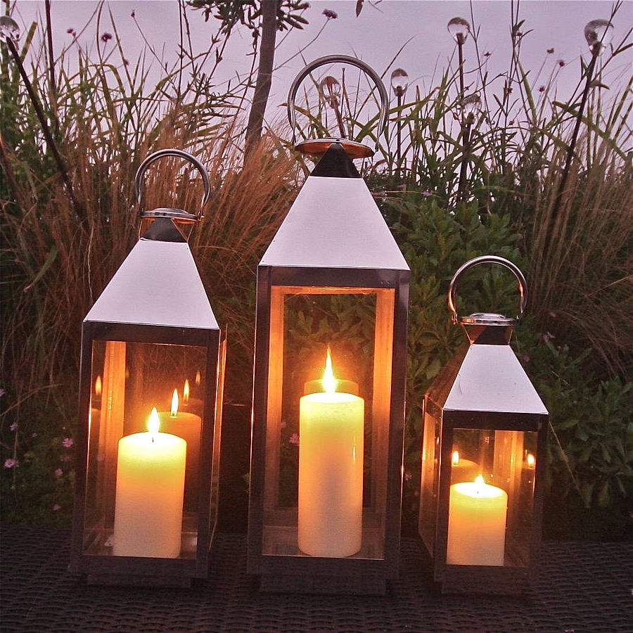 Newest St Mawes Hurricane Garden Lanternlondon Garden Trading Pertaining To Outdoor Storm Lanterns (View 11 of 20)