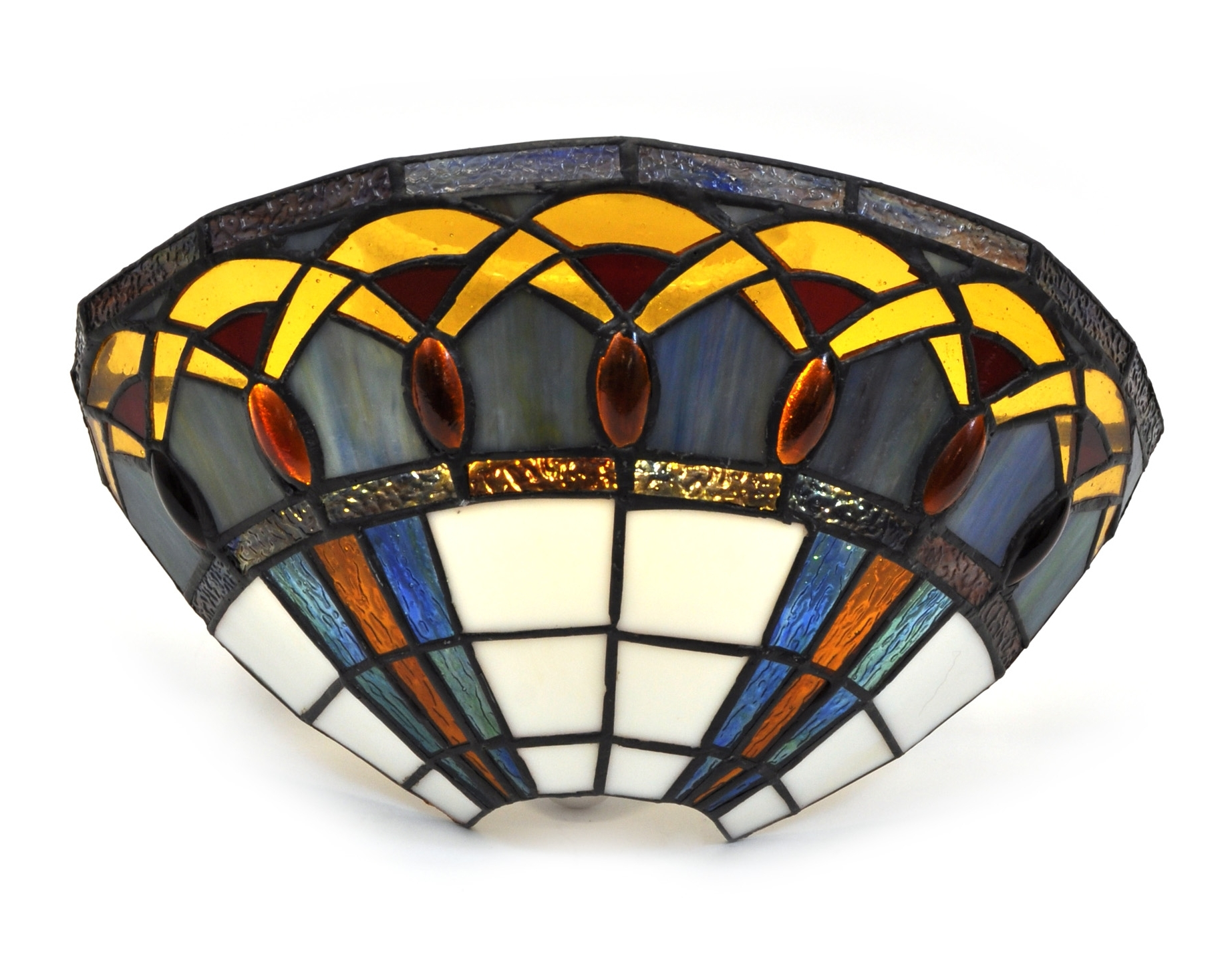 Newest Stained Glass Jewels Sconce (View 10 of 20)