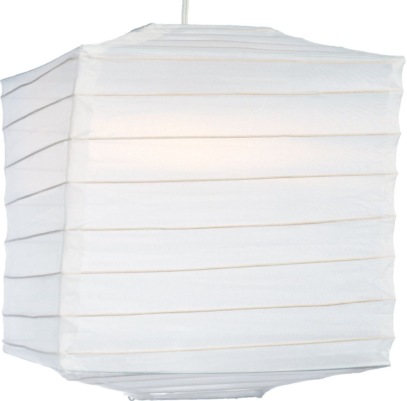 Newest White 10 Inch Square Outdoor Nylon Lantern – Luna Bazaar Pertaining To Outdoor Nylon Lanterns (View 12 of 20)