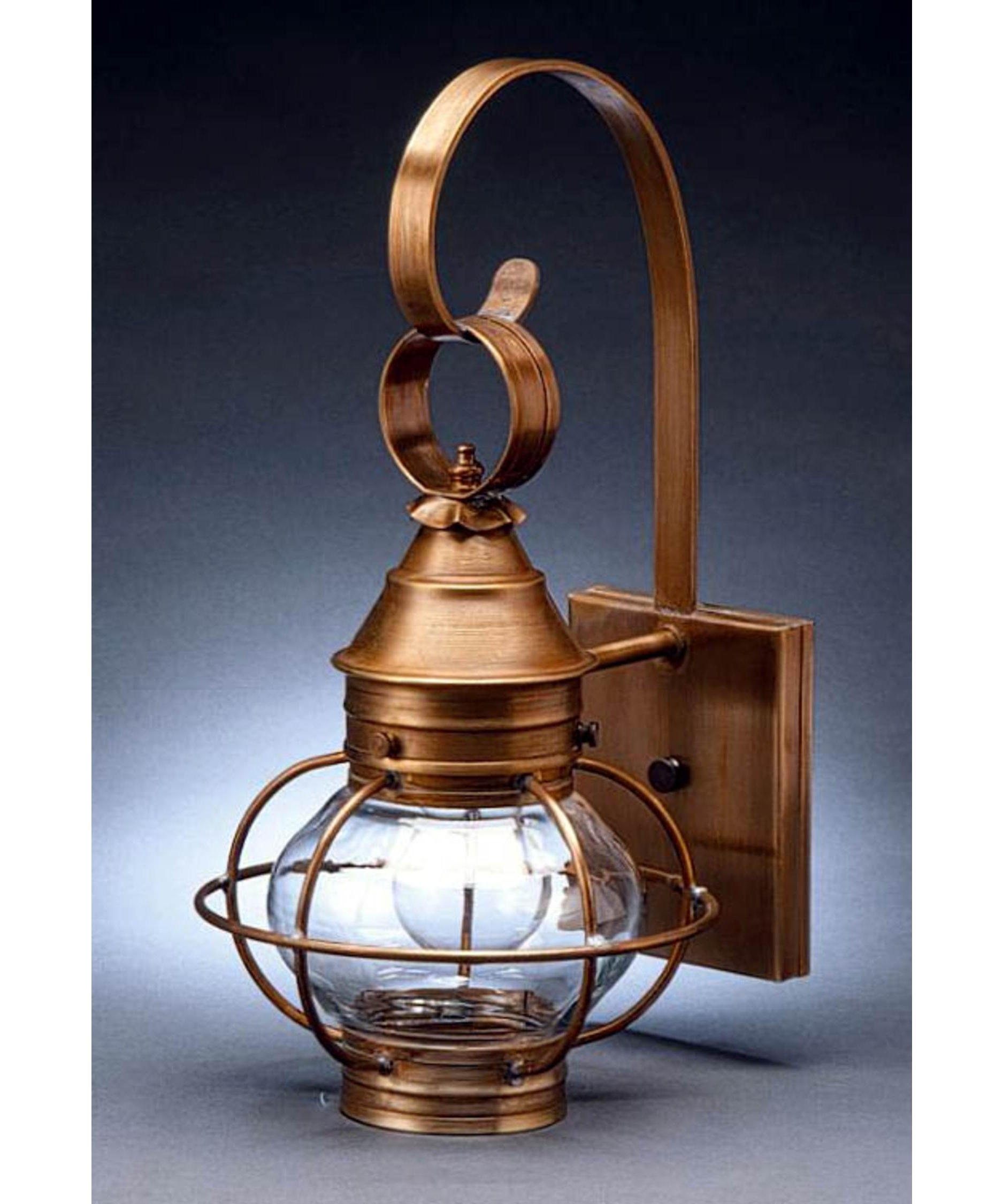 Northeast Lantern 2511 Med Onion 8 Inch Wide 1 Light Outdoor Wall With Preferred Outdoor Lighting Onion Lanterns (View 11 of 20)