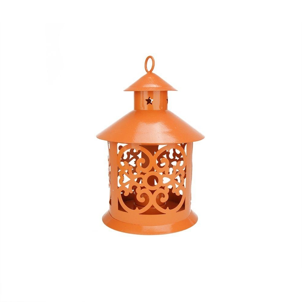 Northlight 8 In. Shiny Orange Votive Or Tealight Candle Holder Regarding Best And Newest Outdoor Tea Light Lanterns (Gallery 9 of 20)