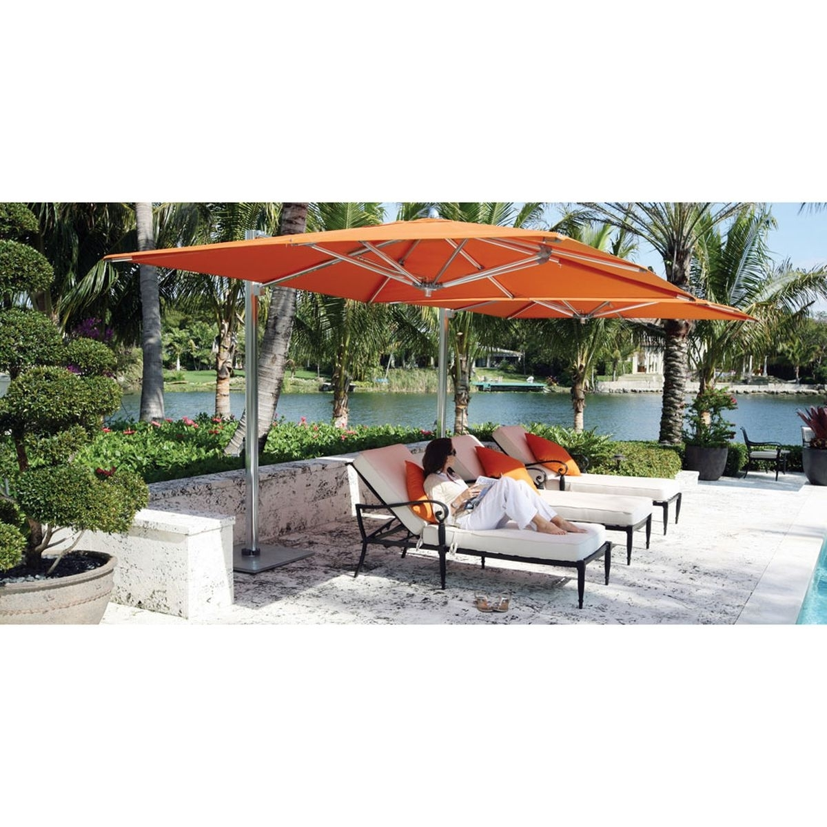 Ocean Master Max Single Cantilever 12 Ft. Square Umbrella, Cl (View 20 of 20)