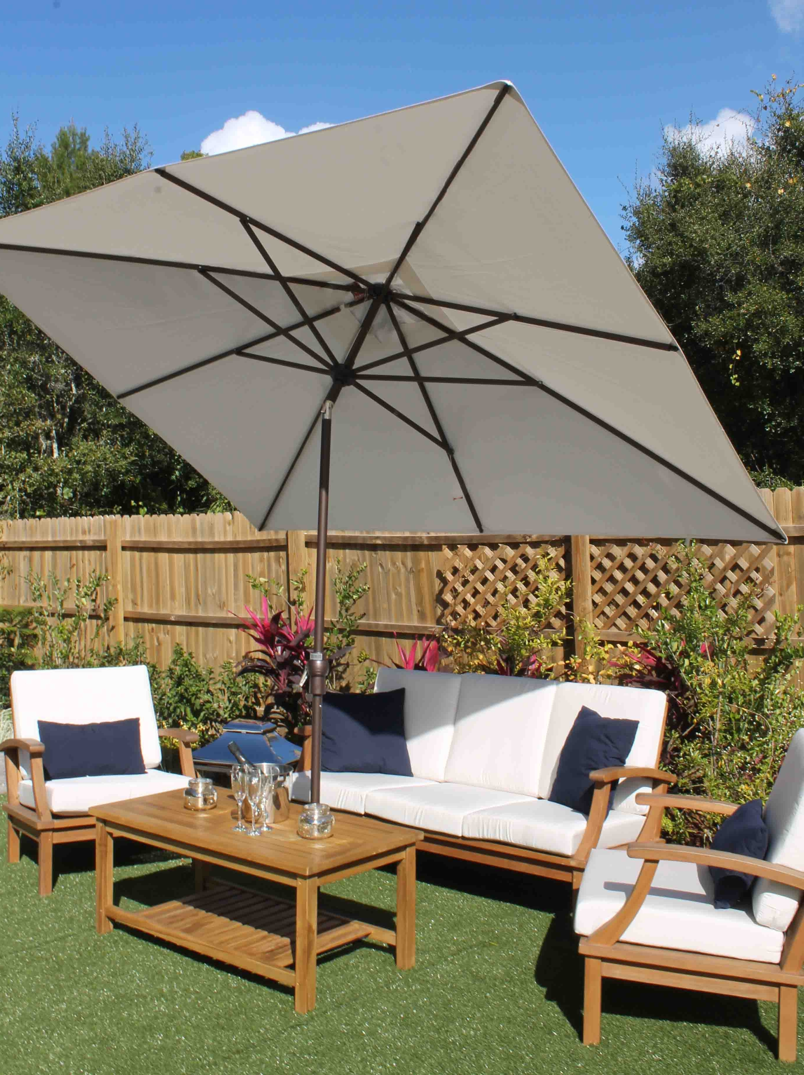 Oceanic Intended For Well Known Sunbrella Teak Umbrellas (View 11 of 20)