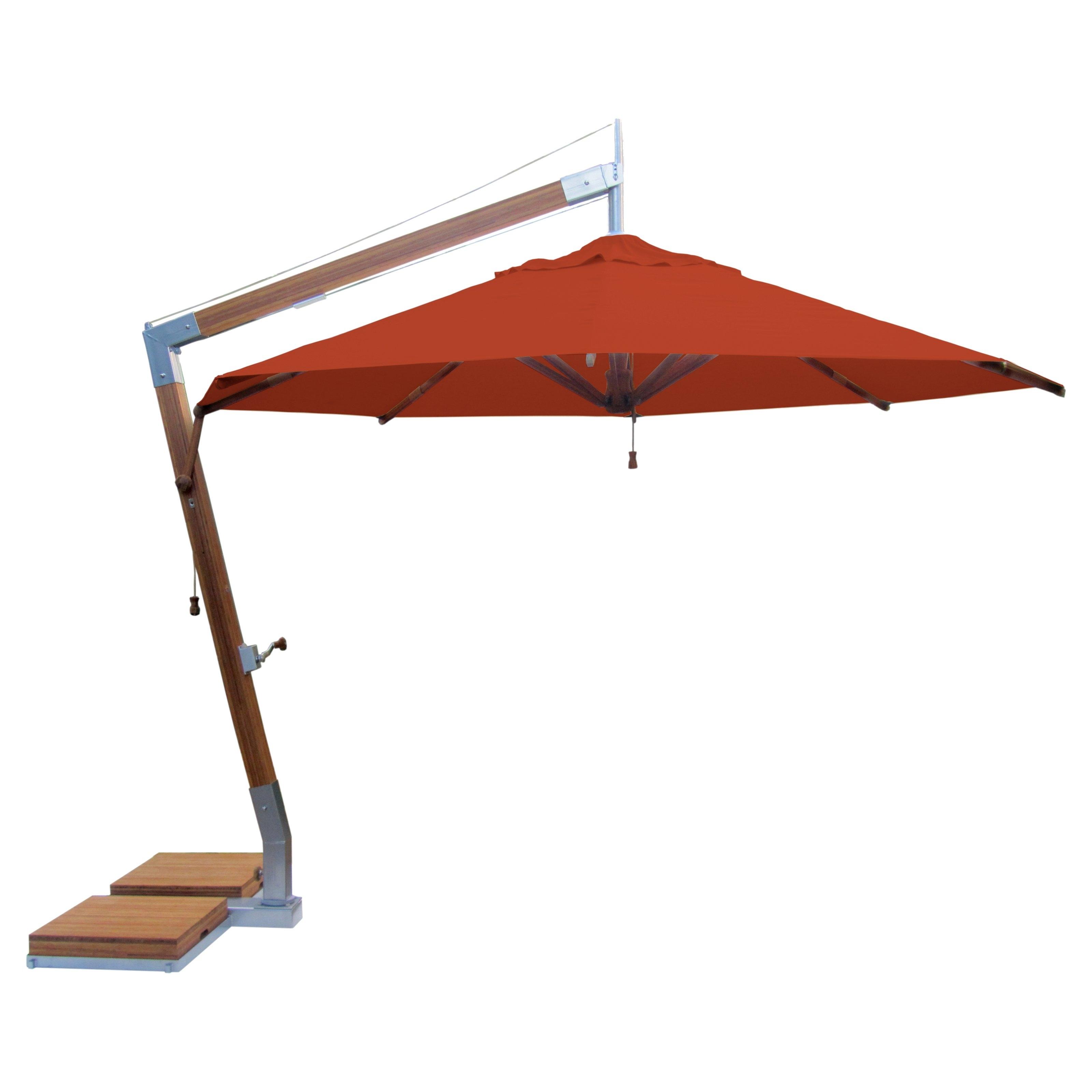 Offset Cantilever Patio Umbrellas For Trendy Furniture: Contemporary Patio Orange Offset Patio Umbrellas At Hayneedle (View 13 of 20)