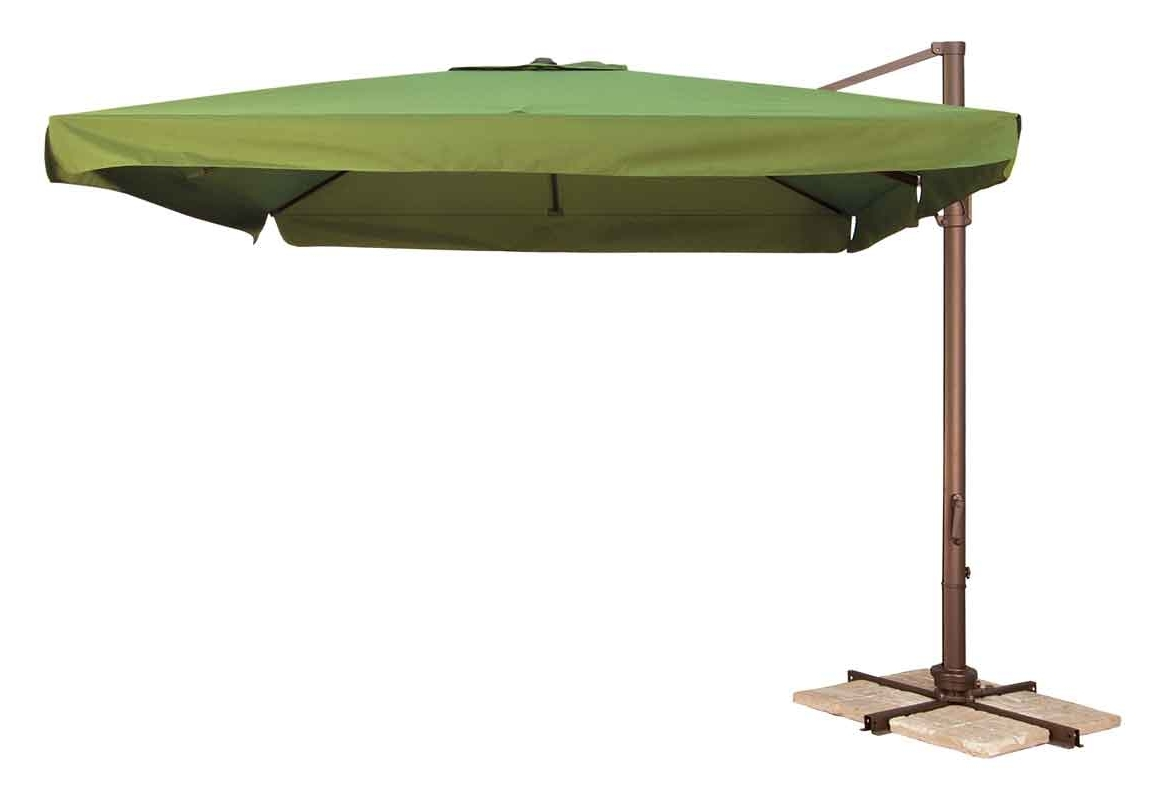 Offset Patio Umbrellas With Base In 2019 Offset Patio Umbrella Clearance (Gallery 4 of 20)