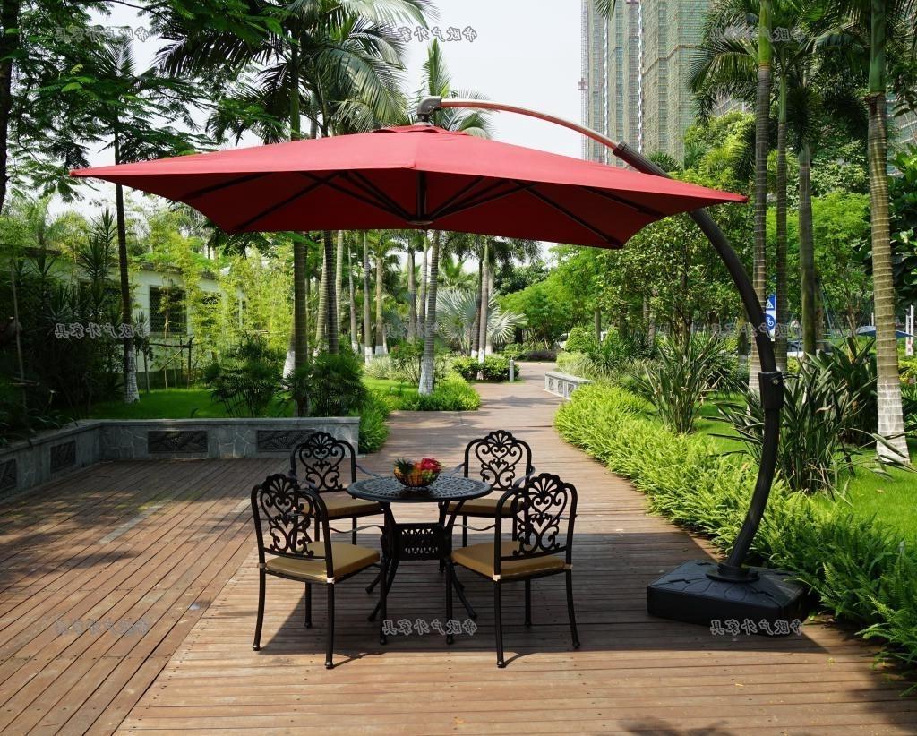 Offset Patio Umbrellas With Base Regarding Fashionable Brilliant Offset Patio Umbrella Base Patio Offset Umbrella Ashery (View 12 of 20)