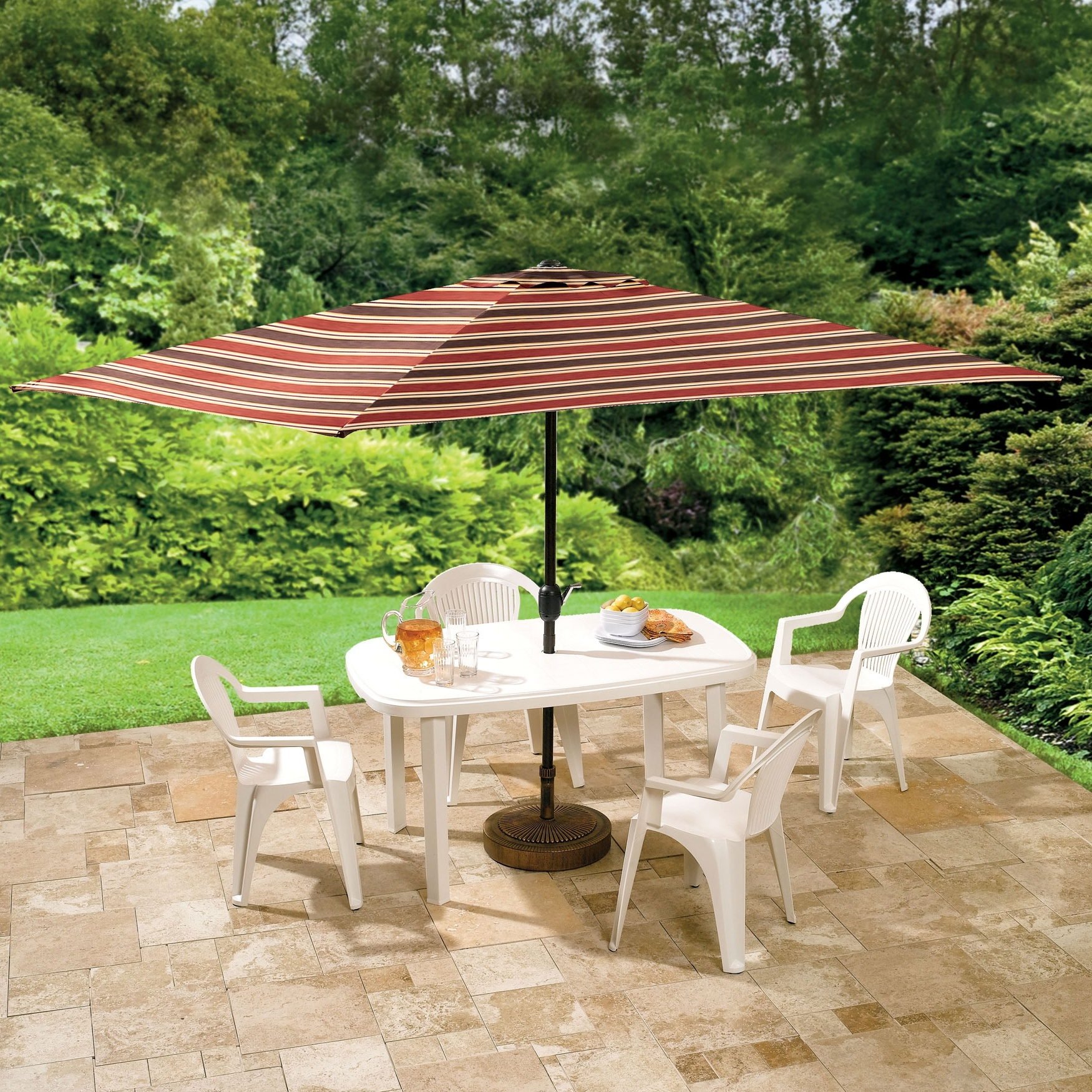 Offset Rectangular Patio Umbrella : Rectangular Patio Umbrella Regarding Most Recent Offset Rectangular Patio Umbrellas (View 8 of 20)