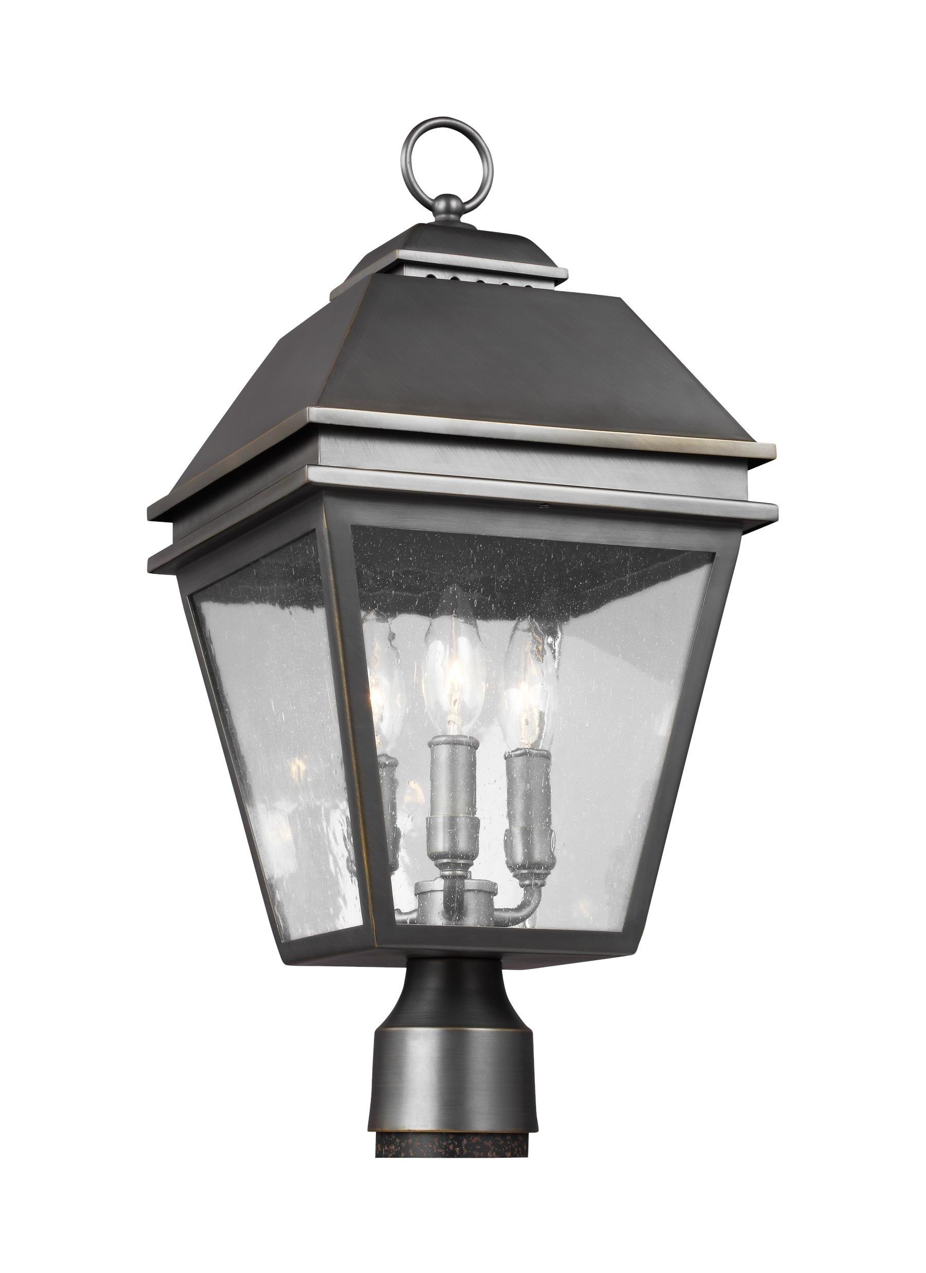 Ol13507Anbz,3 – Light Outdoor Post Lantern,antique Bronze Regarding Newest Antique Outdoor Lanterns (View 10 of 20)