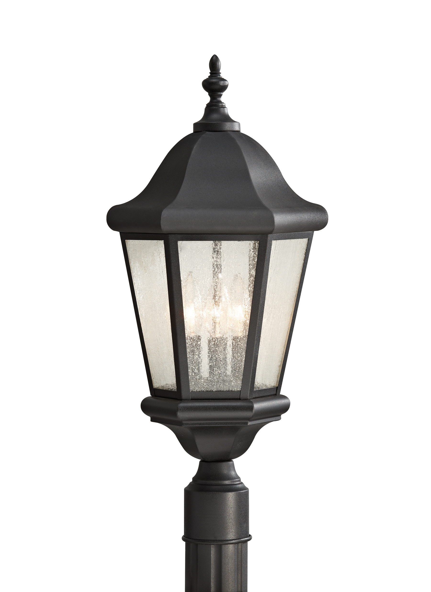 Ol5907bk,3 Light Outdoor Lantern,black With Well Known Outdoor Lanterns On Stands (View 15 of 20)