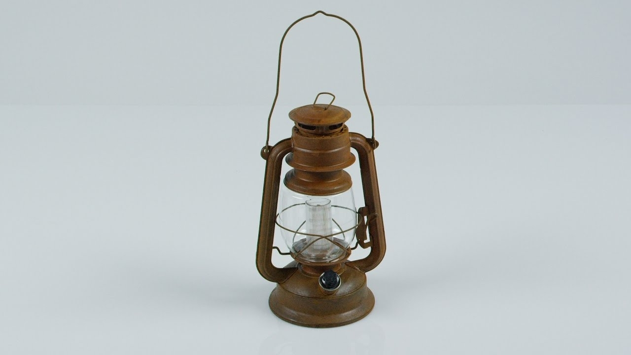 Orvis – Vintage Style Rustic Battery Powered Led Hurricane Lantern Throughout Well Liked Vintage Outdoor Lanterns (View 19 of 20)