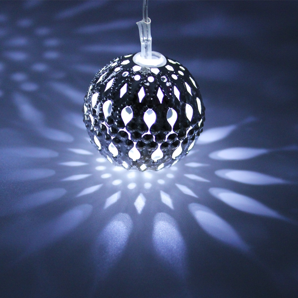 Outdoor Ball Lanterns Throughout Most Current Hollow Ball Led Christmas Lights – Torchstar (View 11 of 20)