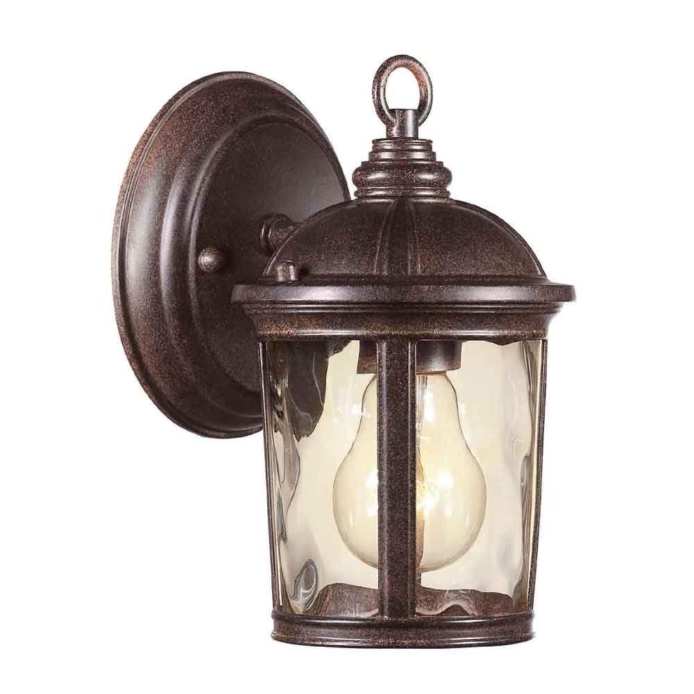 Outdoor Bronze Lanterns Intended For Recent Hampton Bay Leeds Mystic Bronze Outdoor Wall Lantern Hb7261  (View 14 of 20)
