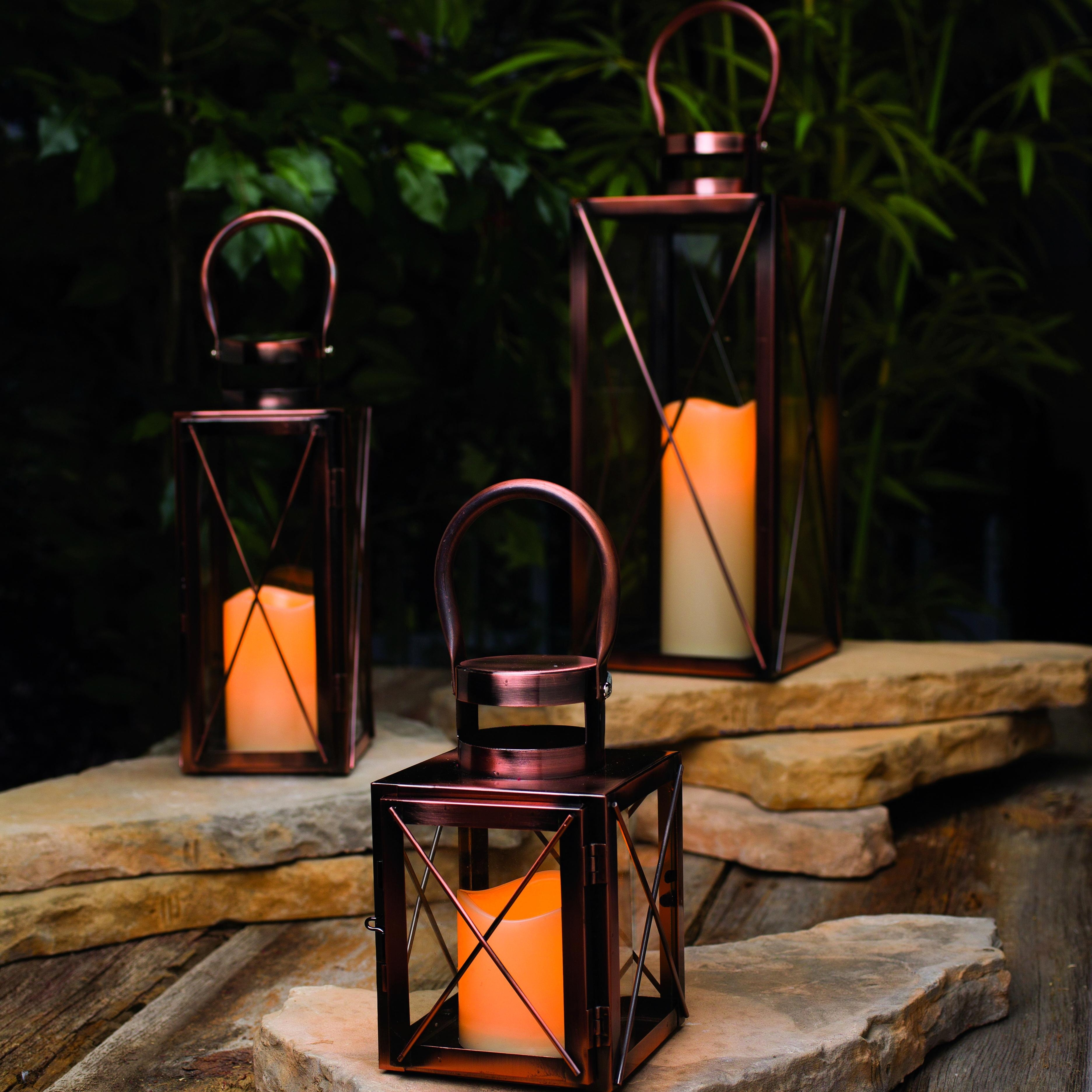 Outdoor Candle Lanterns For Patio Throughout Current Improbable Patio String Lights Complement Space Outdoor Candle (View 2 of 20)