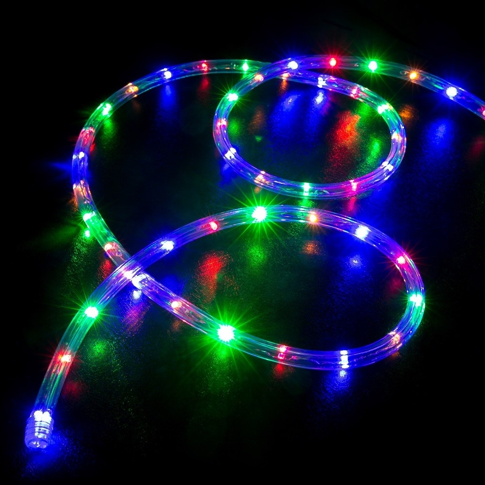 Outdoor Christmas Rope Lanterns With 2019 100' Multi Color (rgb) Led Rope Light – Home Outdoor Christmas (View 9 of 20)