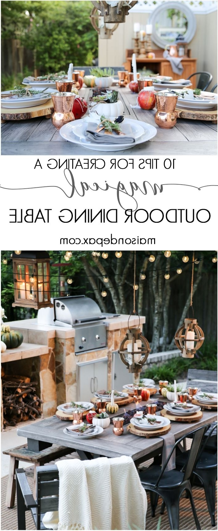Outdoor Dining Lanterns Throughout Most Popular 10 Steps To A Magical Outdoor Dining Table (View 12 of 20)