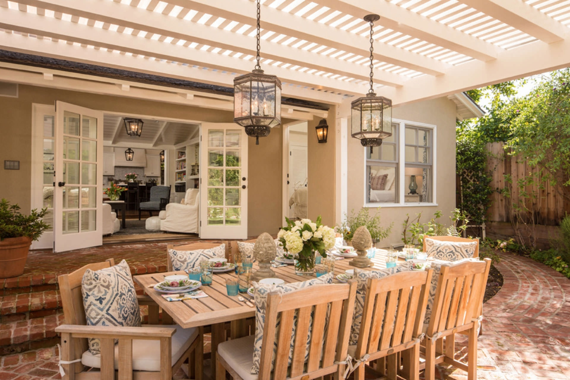 Outdoor Dining Lanterns With Most Recently Released 33 Neat Design Outdoor Lantern Lighting Ideas Five Pergola To (View 13 of 20)