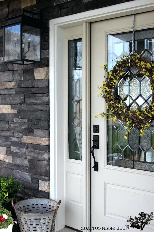 Outdoor Door Lanterns Intended For Best And Newest Front Doors : Outdoor Front Porch Light Bulb Home Door Outdoor Front (View 12 of 20)