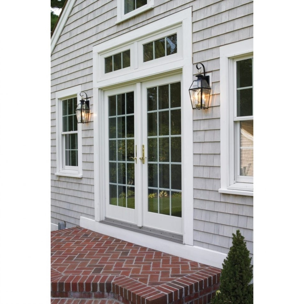 Outdoor Garage Lanterns Throughout 2019 Light : Outdoor Motion Sensor Wall Lights Photo Mounted Outside (View 17 of 20)